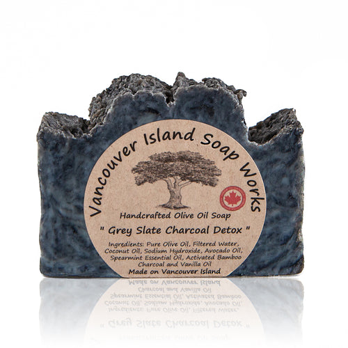 This staff favourite combines spearmint essential oil with vanilla and a dose of activated bamboo charcoal to detoxify the skin. Its rich, creamy lather complements the out of this world scent perfectly. Handmade, natural, vegan, olive oil soap. Made on Vancouver Island in BC, Canada.