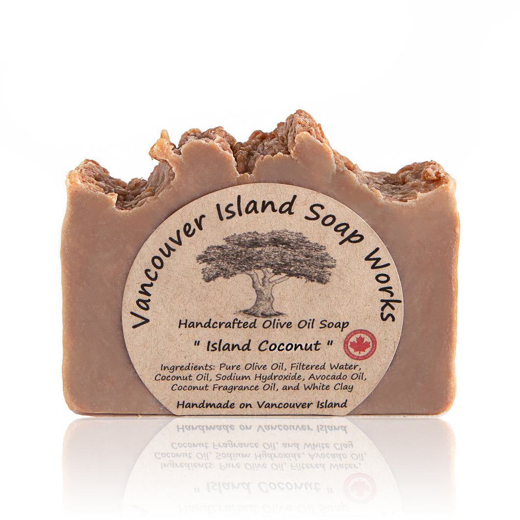 International travel is on hold for now, but this sweet and creamy bar will bring the tropics to you instead. Handmade, natural, vegan, olive oil soap. Made on Vancouver Island in BC, Canada.
