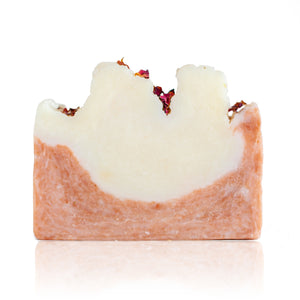 A customer favourite! If you stop and smell the roses then you'll know that there's little better than the scent of wild rose. Combined with the creamy lather of our olive oil soap base and with added french pink clay. Handmade, natural, vegan, olive oil soap. Made on Vancouver Island in BC, Canada.