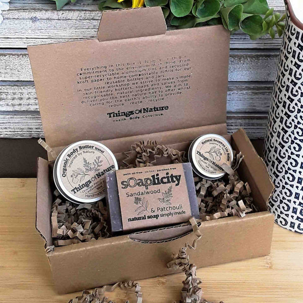 Eco Gift Set: Soap Bar, Body Butter, Lip Balm - Things of Nature