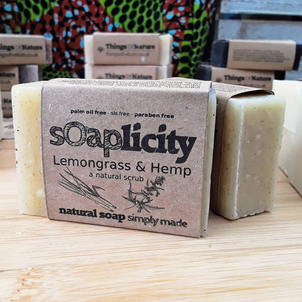 Solid Soap Bar: Lemongrass & Hemp - Things of Nature