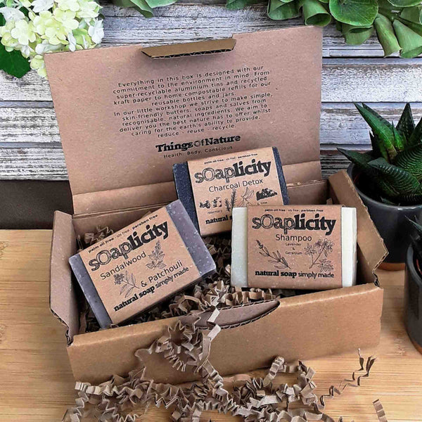 Eco Gift Pack: Three Solid Soaps - Things of Nature