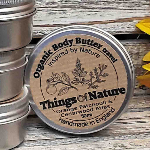 All Natural Body Butter: Orange Patchouli & Cedarwood - Things of Nature