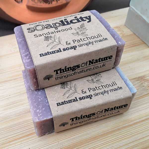 Solid Soap Bar: Sandalwood & Patchouli-Soaps-Things of Nature
