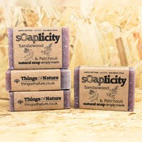 Solid Soap Bar: Sandalwood & Patchouli - Things of Nature
