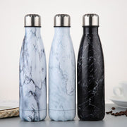 Black Marble 500ML Stainless Steel Water Bottle - Zenrest Athletica