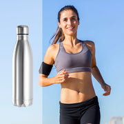 Silver Multi-Size Insulated Stainless Steel Water Bottle - Zenrest Athletica