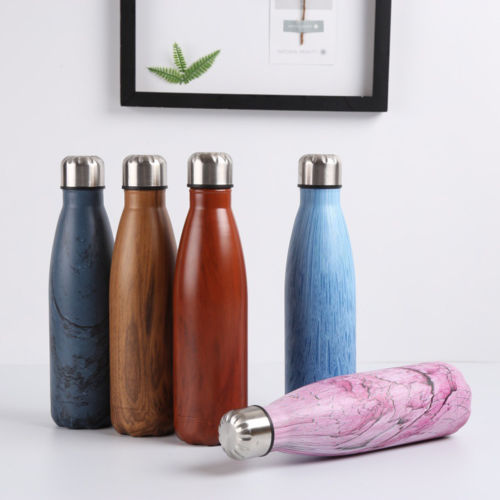 Cherry Mahogany 500ML Stainless Steel Water Bottle - Zenrest Athletica