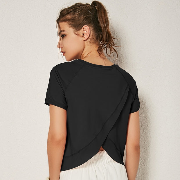 Slashed Back Tee - Zenrest Athletica