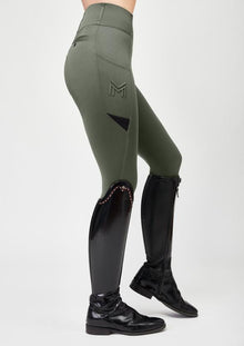 Tech Riding Leggings - Military Green