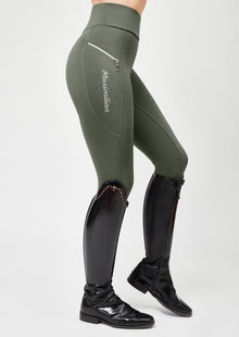 Charm Riding Leggings - Military Green