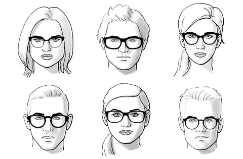 eyeglasses for different face types face shapes