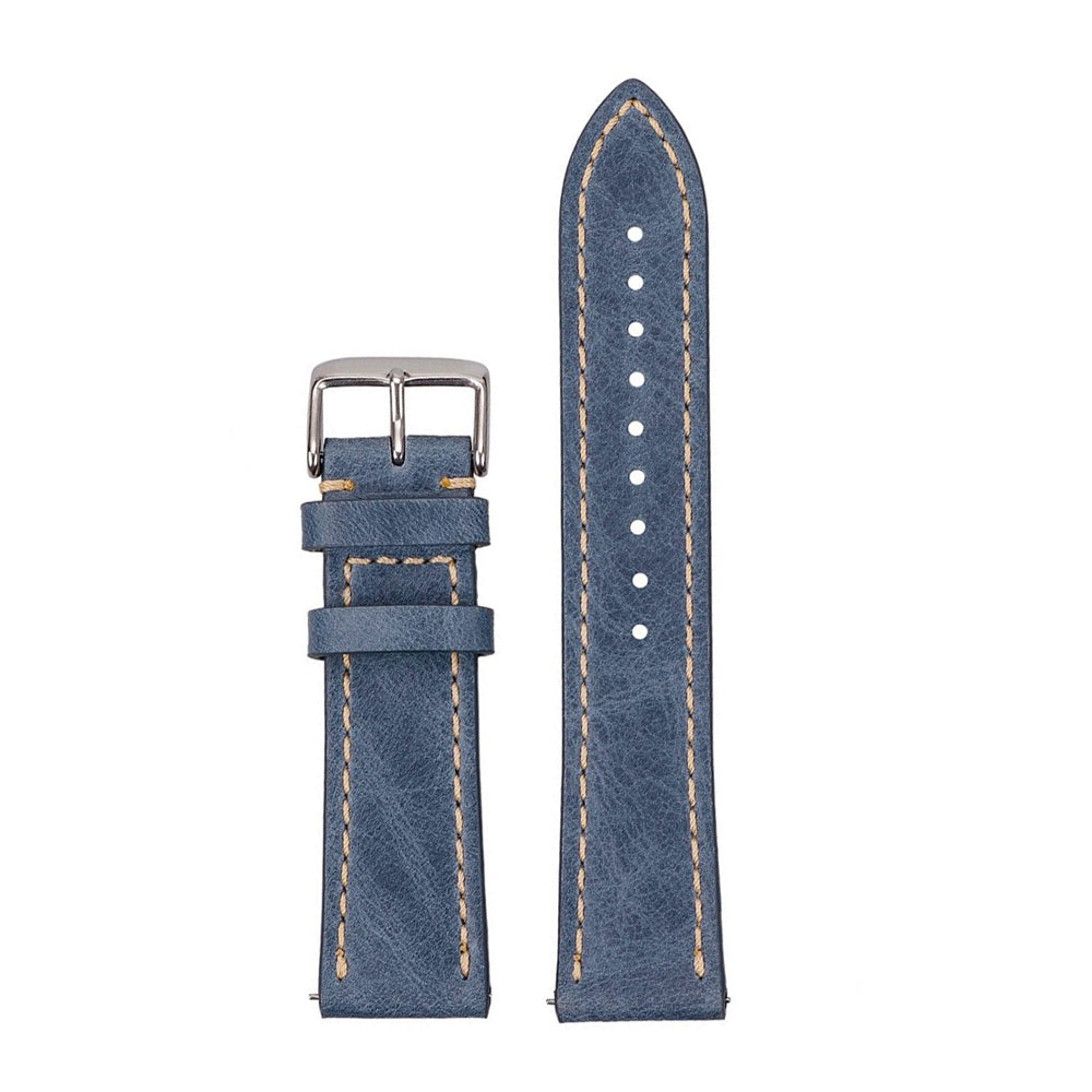 Blue Leather Straps