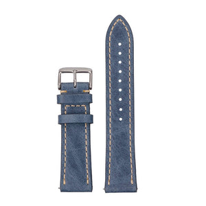 blue stitched leather seagull hovini