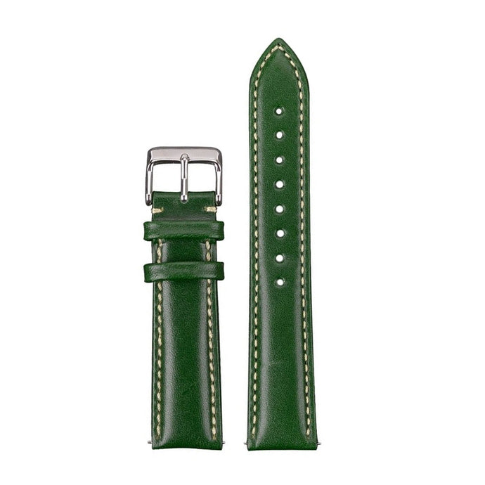 green shiny leather straps seagull hovini