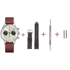 Grey Leather Strap | 18mm