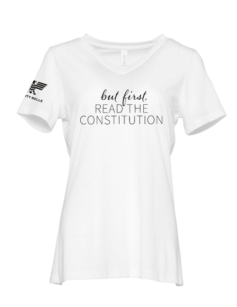 But First, Read the Constitution™, White, V-Neck