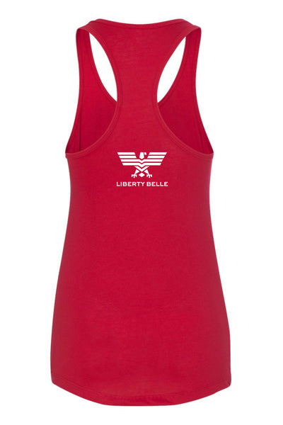 Freedom is Essential Red Fitted Tank Top