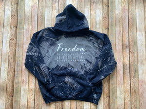Acid Washed Freedom Is Essential Hoodie