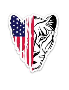 Patriotic Lioness™ Sticker