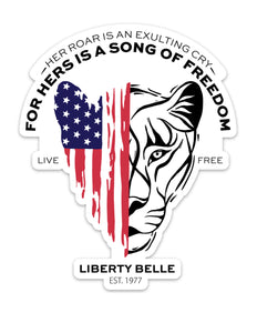 Patriotic Lioness™ Sticker - Large