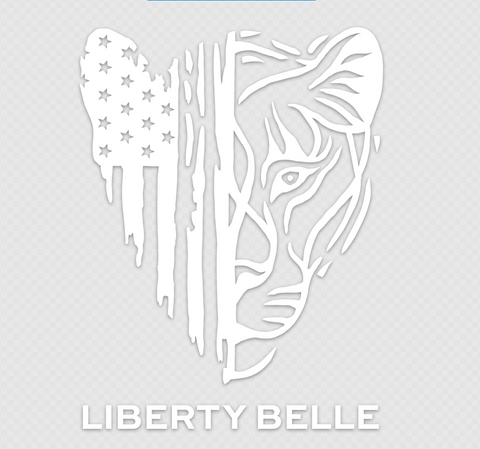 Patriotic Lioness™ Decal/Transfer Sticker