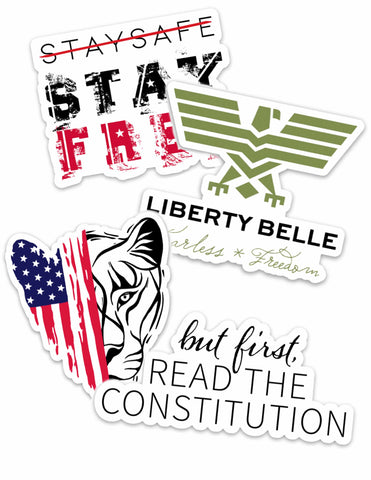 Liberty Belle Sticker 4 Pack