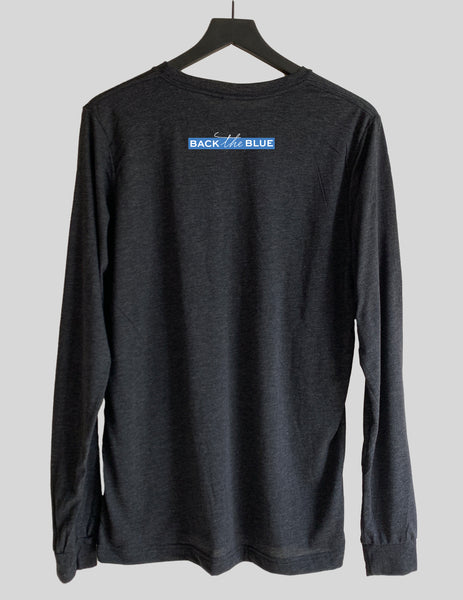 Back the Blue Long Sleeve Crew Neck