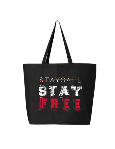 Stay Safe, Stay Free™ Jumbo Canvas  Tote