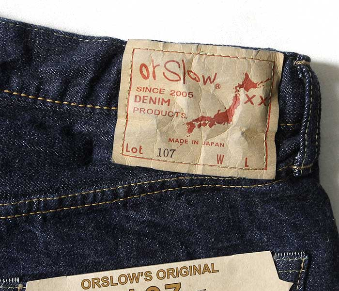 One Wash 107 Slim Fit Jeans | 01-0107, Orslow - The Signet Store