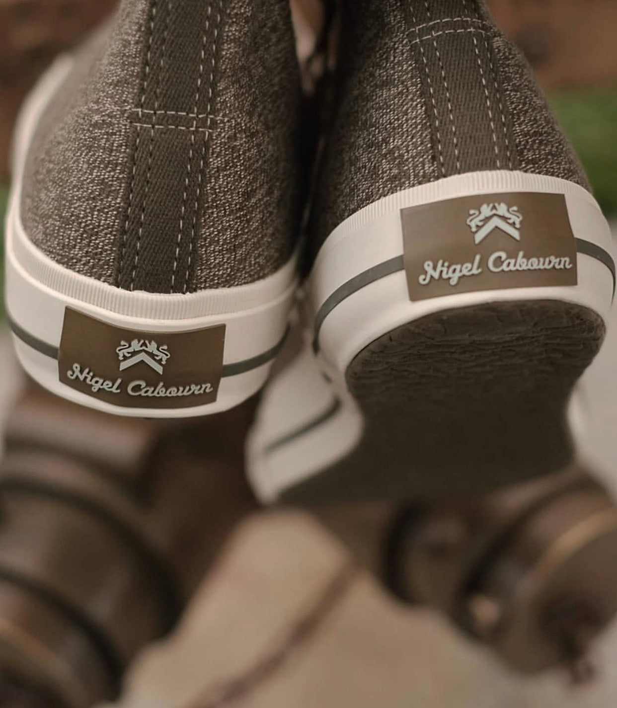 Army Trainers (Army) High Top, Nigel Cabourn - The Signet Store