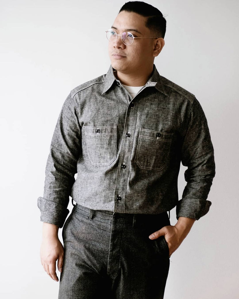 Chambray Shirt with Chinstrap | 3023, Warehouse - The Signet Store