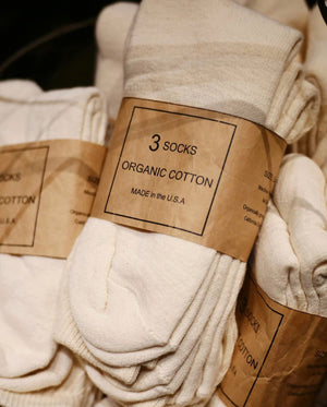Organic Cotton Socks 3 Packs, Anatomica - The Signet Store