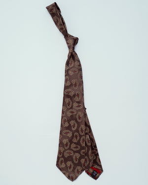Open image in slideshow, Light Brown w/ Gold Paisley | 100% Silk, Tie Your Tie - The Signet Store