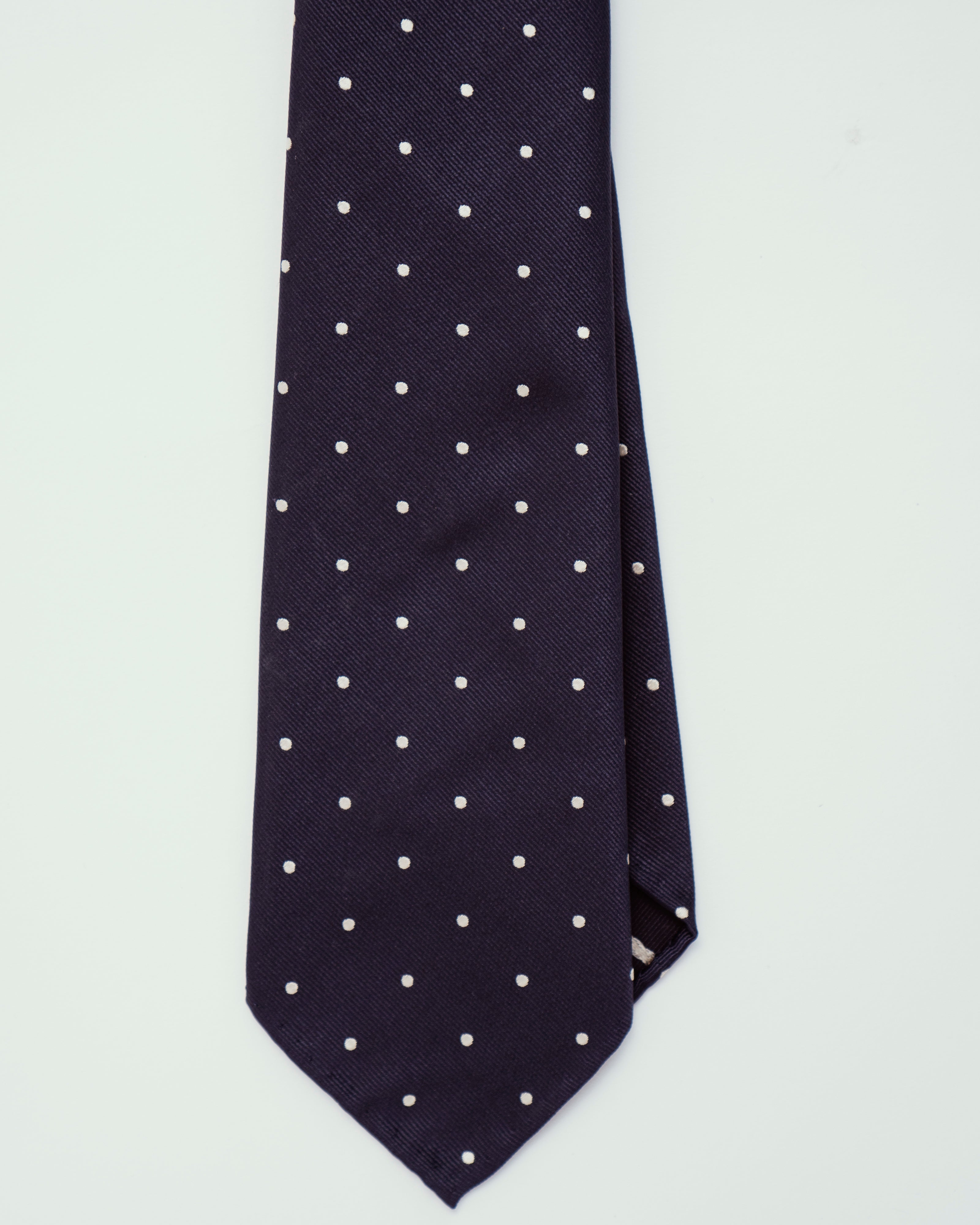 Navy w/ Small Polka Dots | 100% Silk, Tie Your Tie - The Signet Store