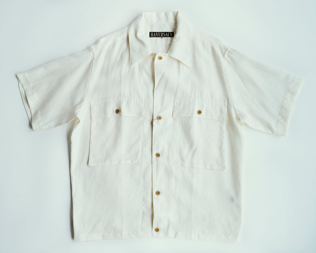 Panama Linen Open Collar Shirt | 822031, Haversack - The Signet Store