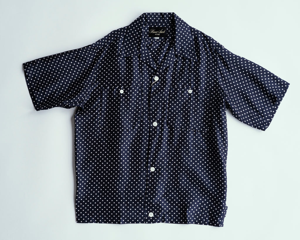 Dot Silk Open Collar Shirt | 822030, Haversack - The Signet Store