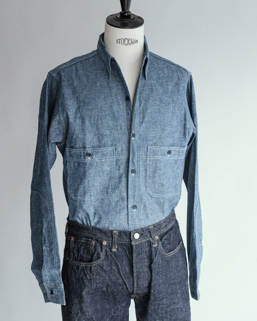 Cast Iron Chambray Shirt | 3028, Warehouse - The Signet Store
