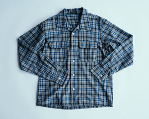 Open image in slideshow, Open Collar Shirt | MB011, Muller & Bros. - The Signet Store