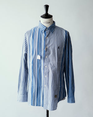 Open image in slideshow, Trad Mixed Patchwork Button Down Shirts