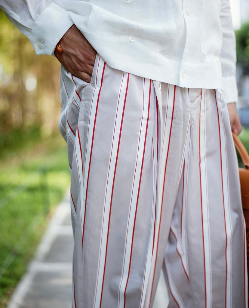 Stripe Pants Drawstring | 861922, Haversack - The Signet Store