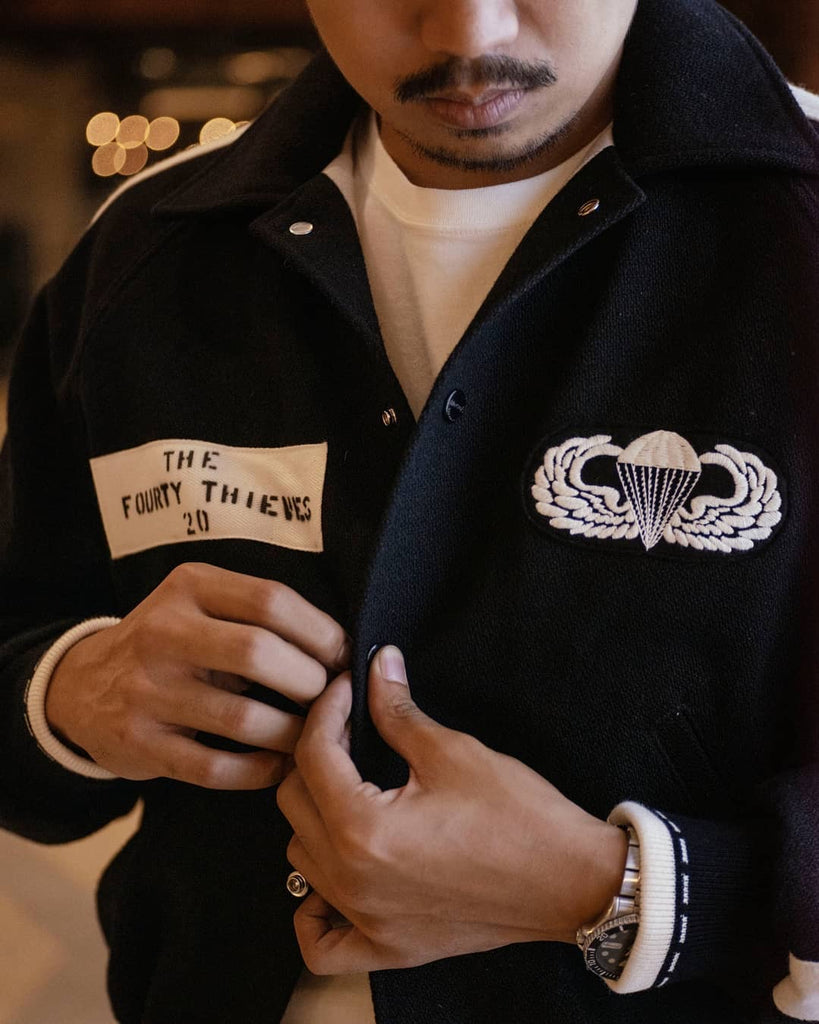 Screaming Eagles Squadron Jacket | MJ17121, The Real McCoy's - The Signet Store