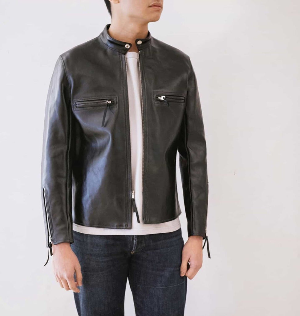 Buco J- 100 Leather Racer Shirt | BJ19001, The Real McCoy's - The Signet Store