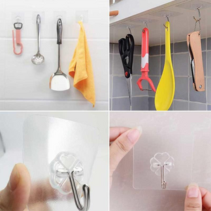 Seamless Adhesive Hook Waterproof Stick Hook(12PCS/24PCS/36PCS)