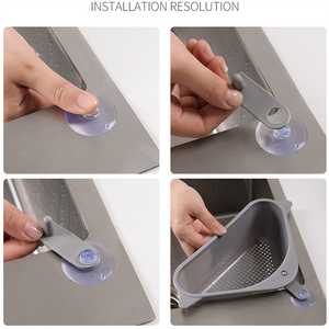 (HOT SALE!!!) Triangle Storage Holder Multifunctional Drain Shelf