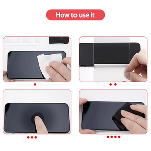 4D Privacy Black Screen Protector