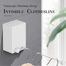 Load image into Gallery viewer, Telescopic Stainless String Invisible Clothesline