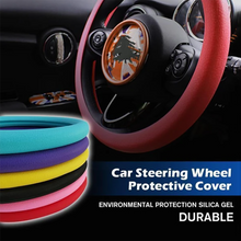 Load image into Gallery viewer, Car Silicone Steering Wheel Protective Cover