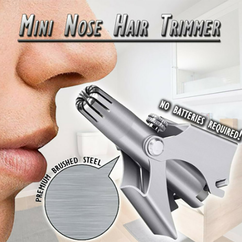 Stainless Steel Manual Nose Trimmer