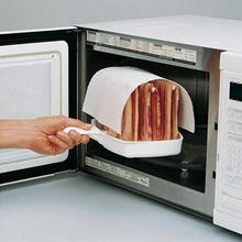 Load image into Gallery viewer, Microwave Bacon Cooker Tray Rack